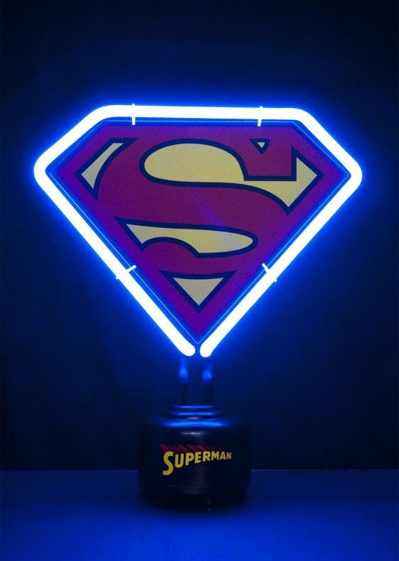DC Comics Neon Light Superman Shield 23 x 24 cm --- DAMAGED PACKAGING