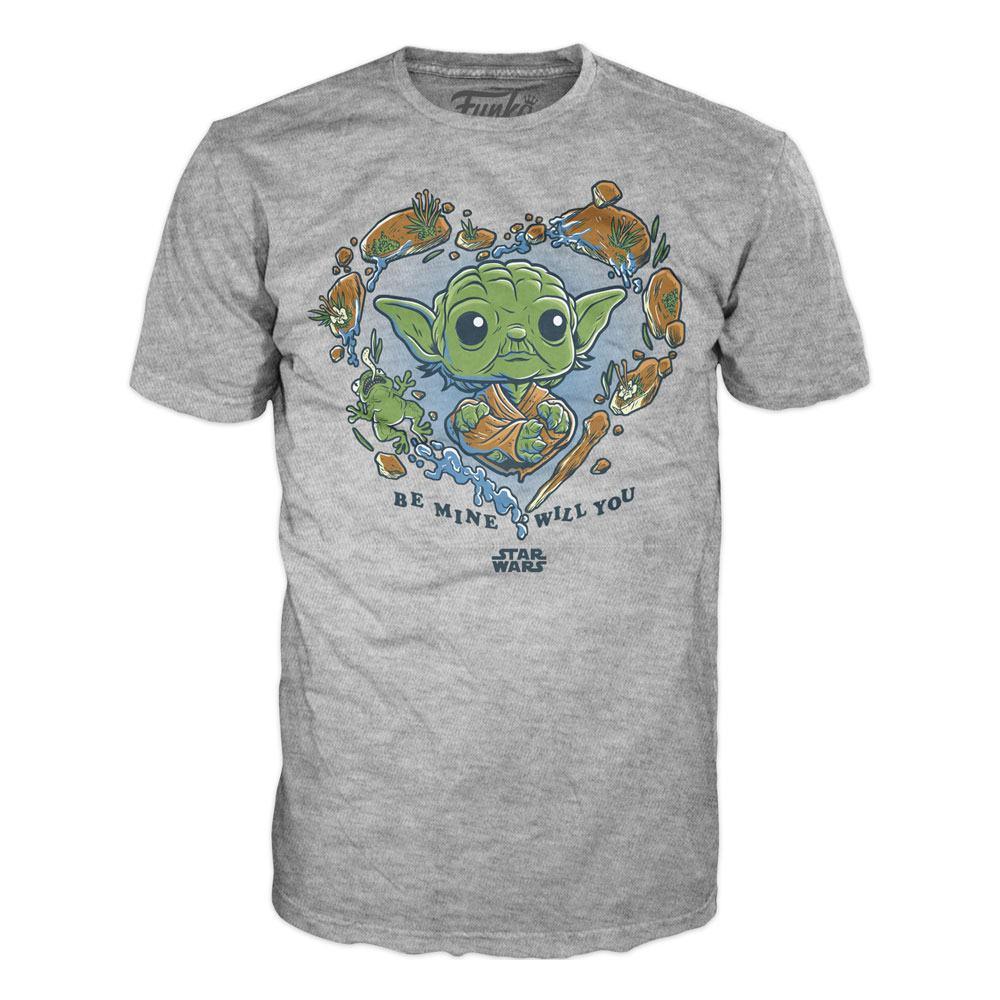 Star Wars Loose POP! Tees T-Shirt Be Mine Yoda Size XL