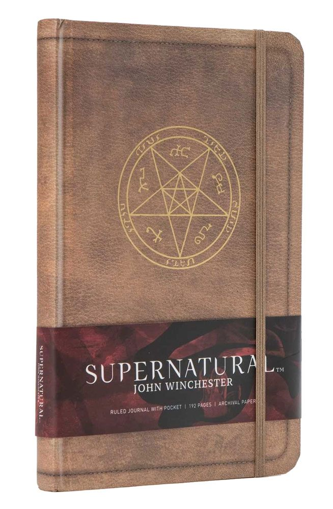 Supernatural Hardcover Ruled Journal John Winchester