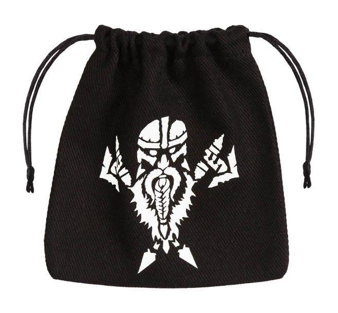 Dwarven Dice Bag black & white
