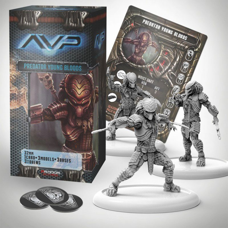 AvP Tabletop Game The Hunt Begins Expansion Pack Predator Young Bloods