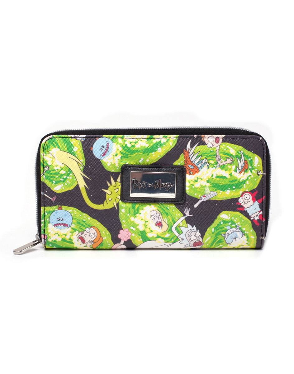 Rick and Morty Ladies Wallet Characters