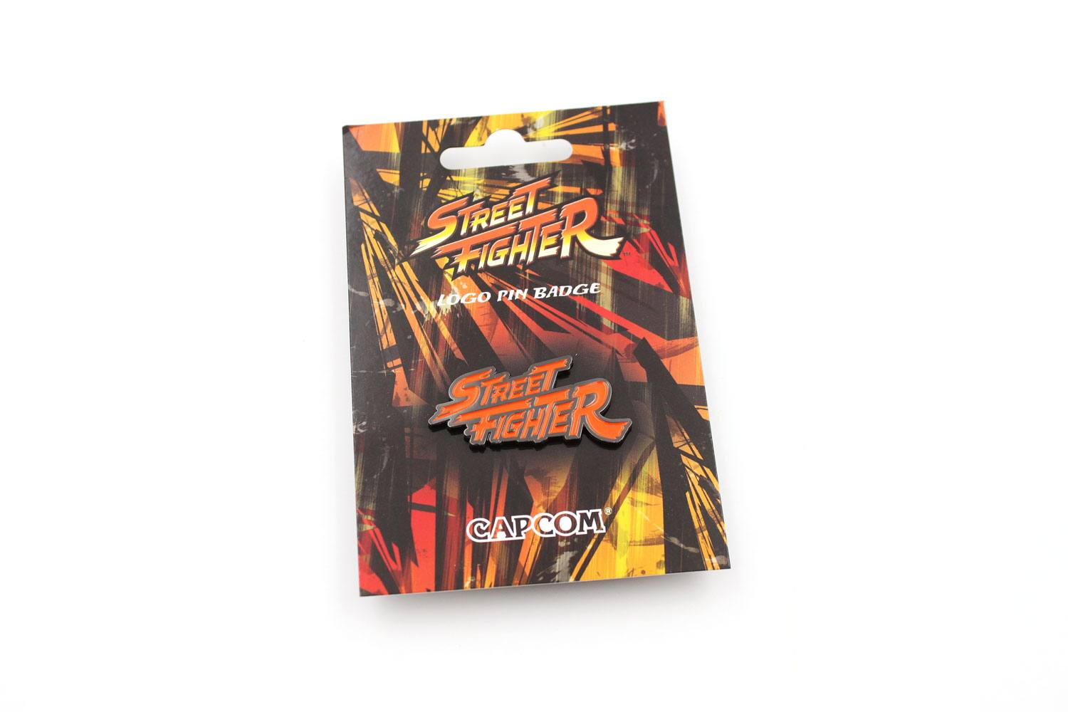 Street Fighter Pin Badge Logo Colour