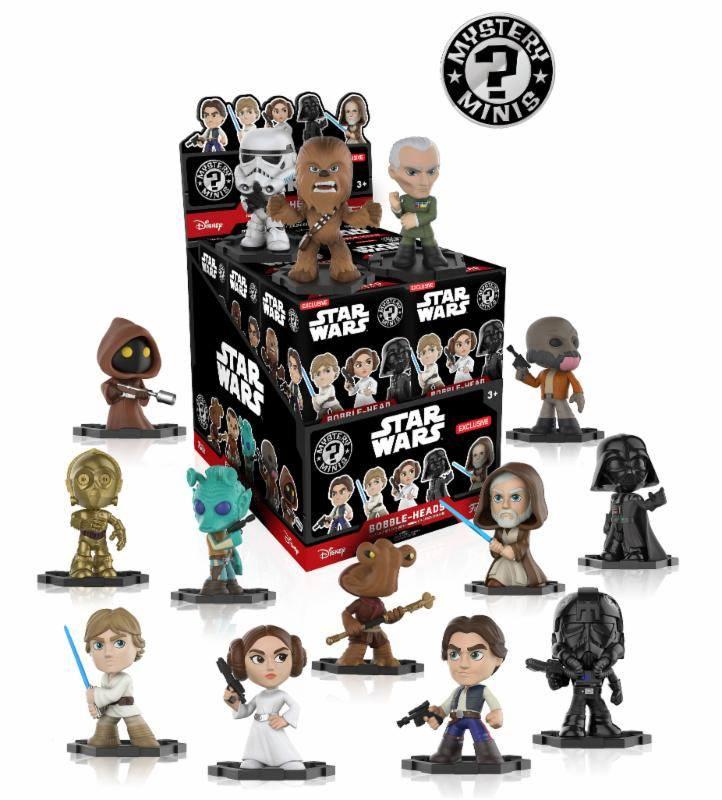 Star Wars Mystery Minis Vinyl Mini Figures 6 cm Display (12)