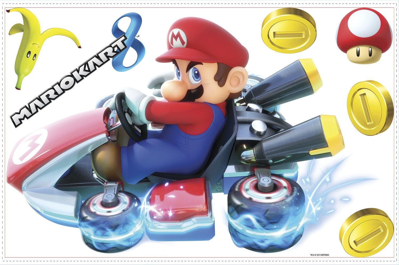 Nintendo Giant Vinyl Wall Decal Set Mario Kart 8
