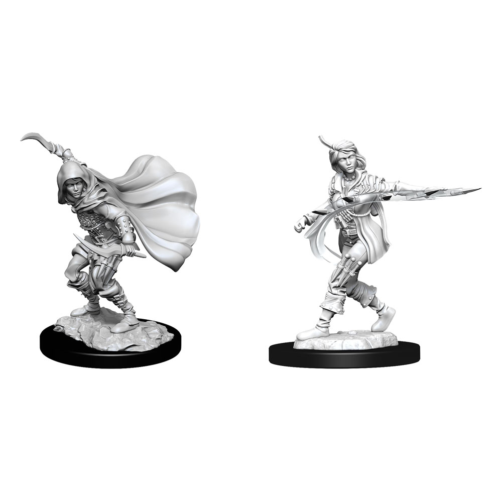 Pathfinder Battles Deep Cuts Unpainted Miniatures Human Rogue Female Case (6)