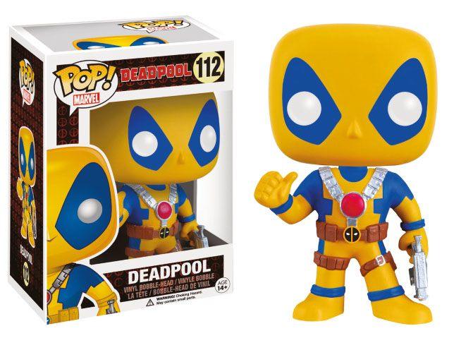Marvel Comics POP! Vinyl Bobble-Head Deadpool Yellow Costume 9 cm
