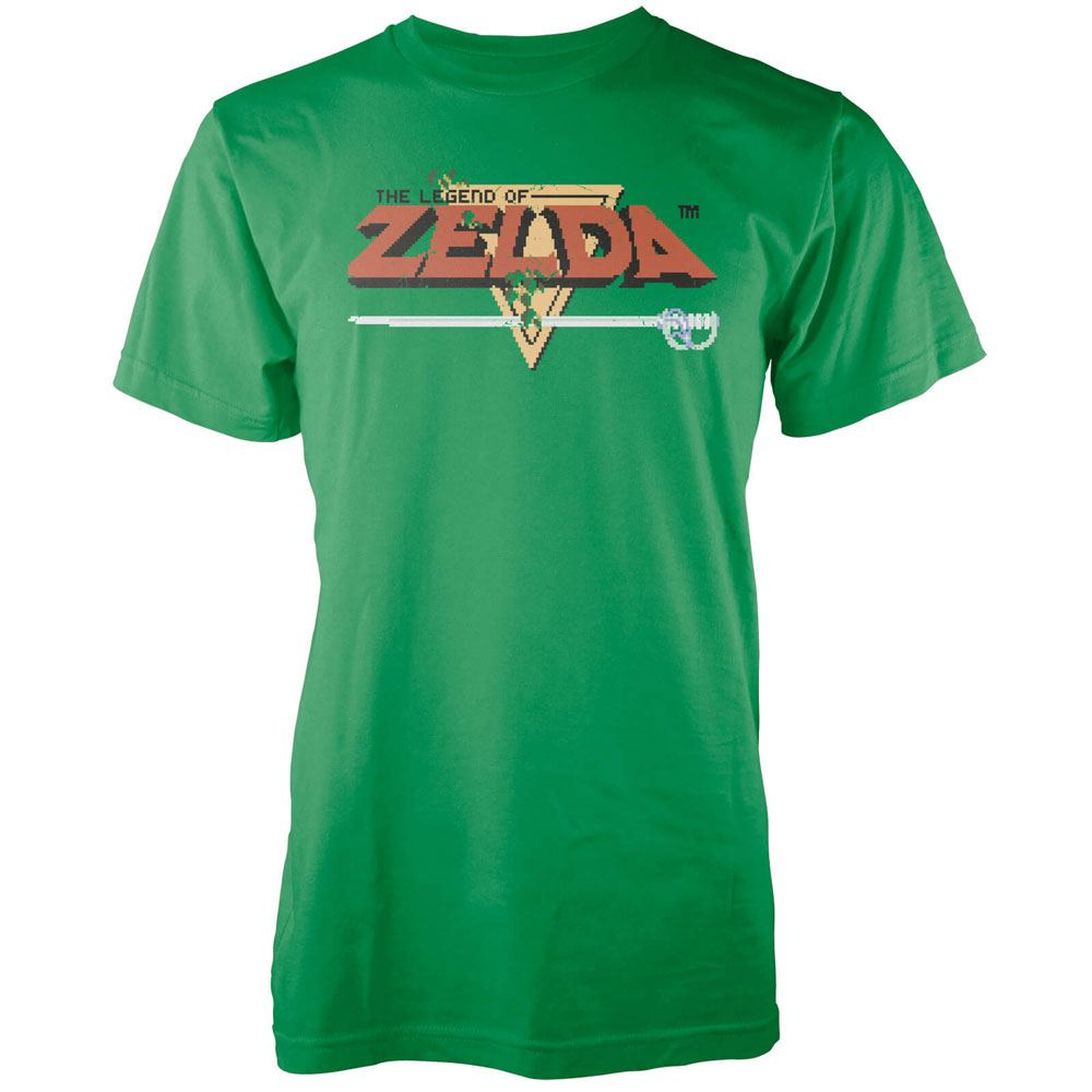 Nintendo T-Shirt Zelda Retro Logo Size S