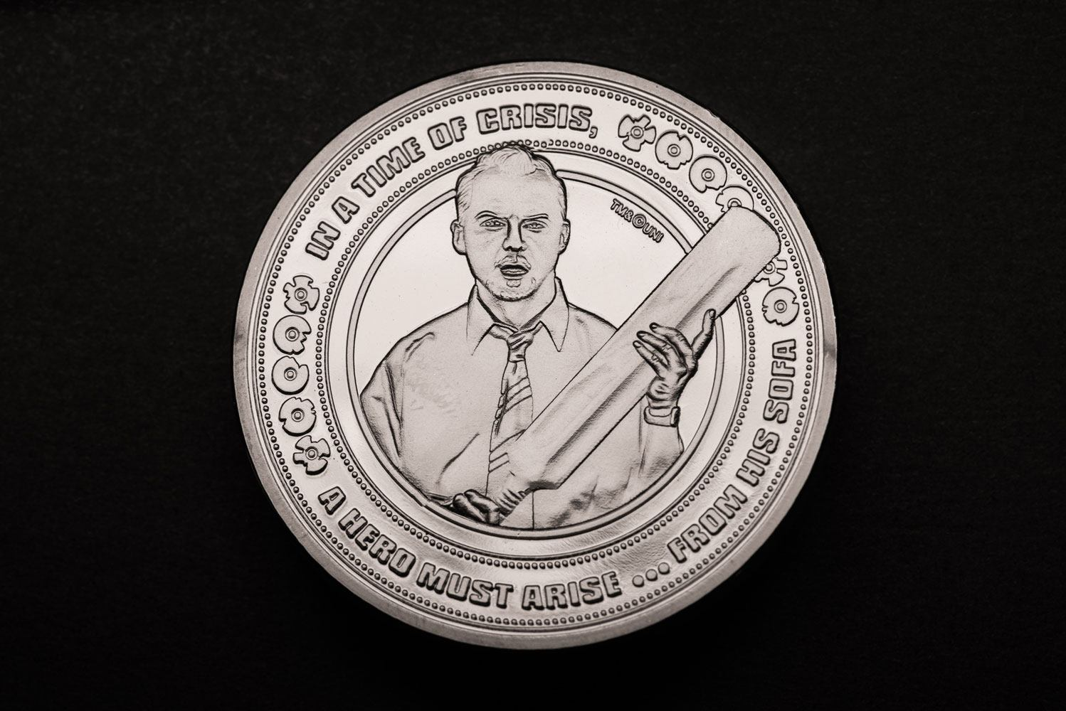 Shaun of the Dead Collectable Coin 25th Anniversary Silver Edition