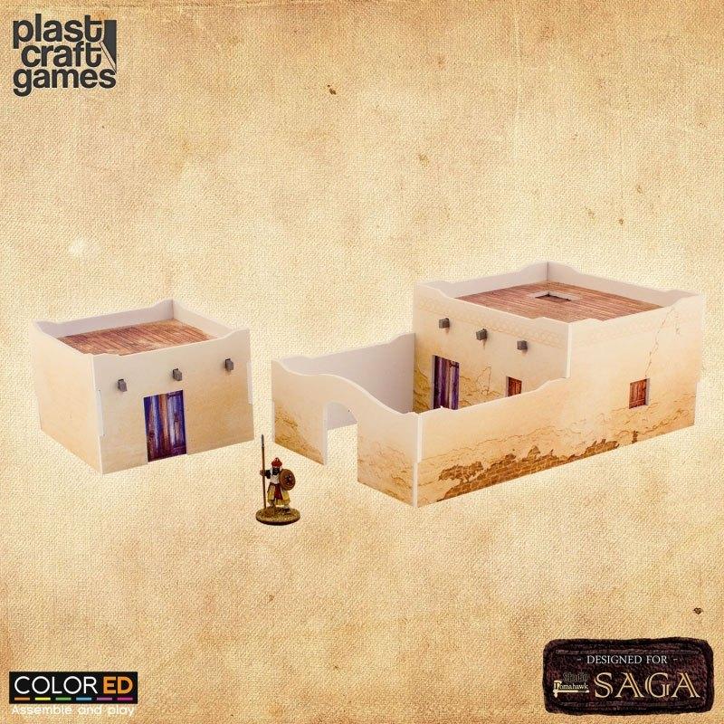 SAGA ColorED Miniature Gaming Model Kit 28 mm Desert Building Set