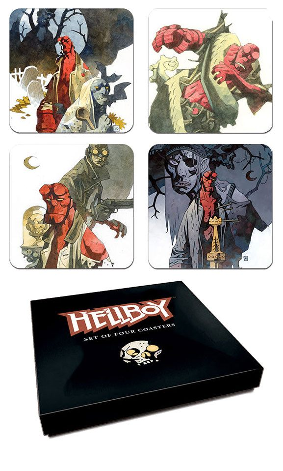 Hellboy Coaster Set Mignolas Classic Watercolors