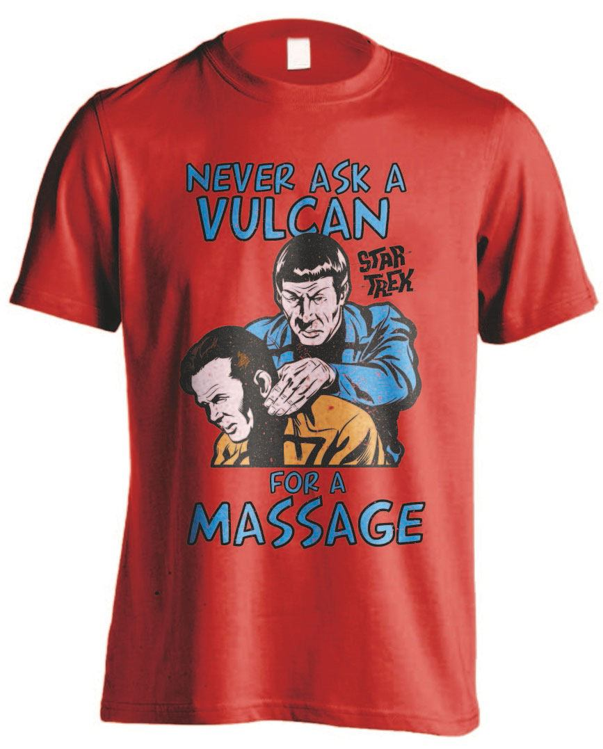 Star Trek T-Shirt Vulcan Massage Size S