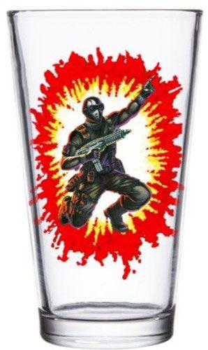 G.I. Joe Pint Glass Snake Eyes