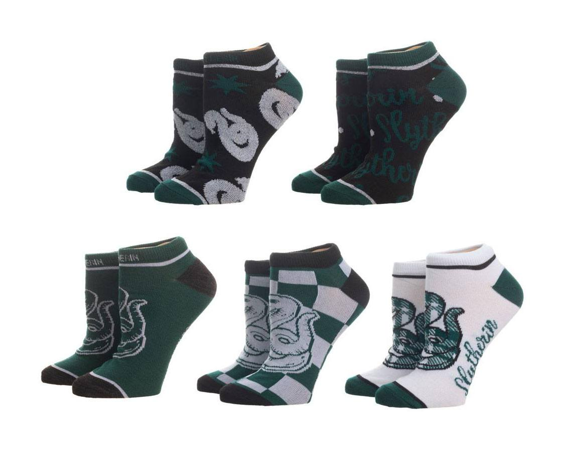 Harry Potter Ladies Ankle Socks 5-Pack Slytherin