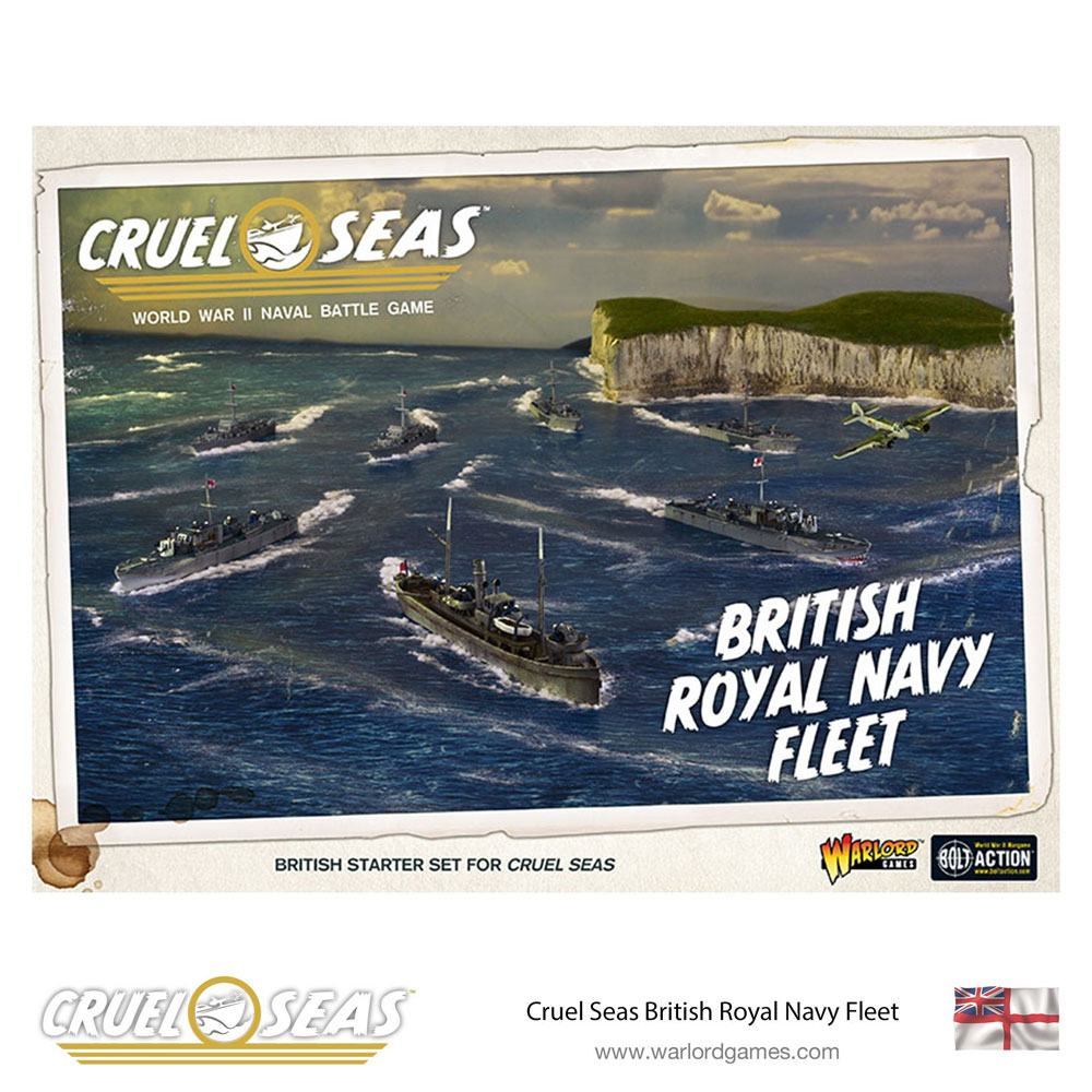 Cruel Seas Miniatures Game Expansion Set British Royal Navy Fleet *English Version*