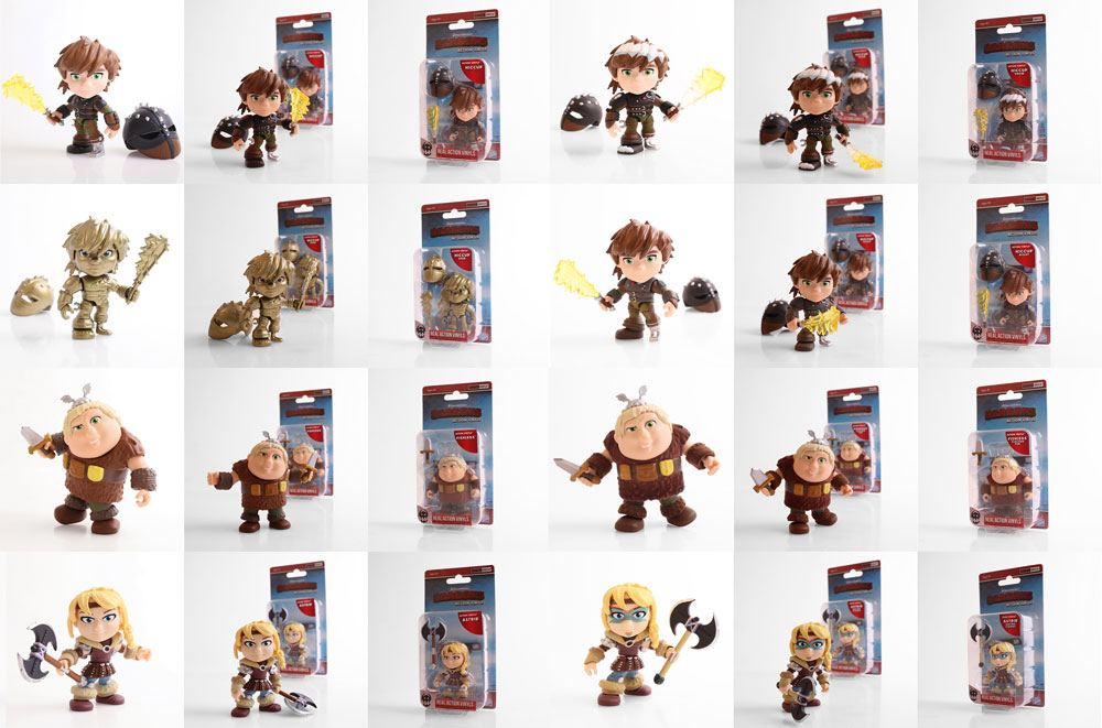 How to Train Your Dragon Action Vinyl Mini Figures 8 cm Humans Display (12)