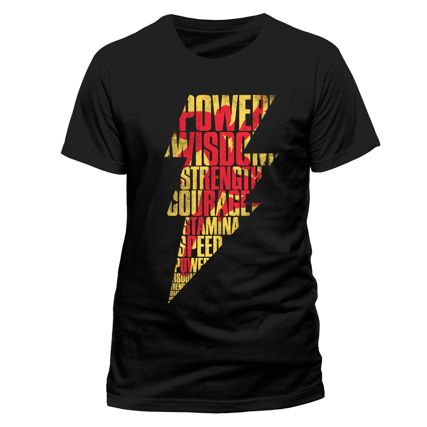 Shazam T-Shirt Lightning Silhouette Size M