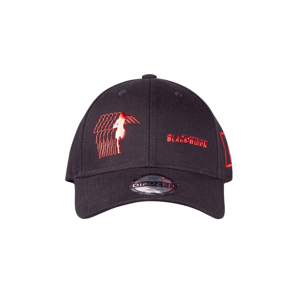 Black Widow Curved Bill Cap Logo