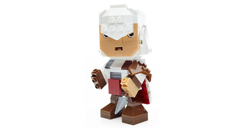 Assassin's Creed Mega Construx Kubros Construction Set Ezio 14 cm --- DAMAGED PACKAGING