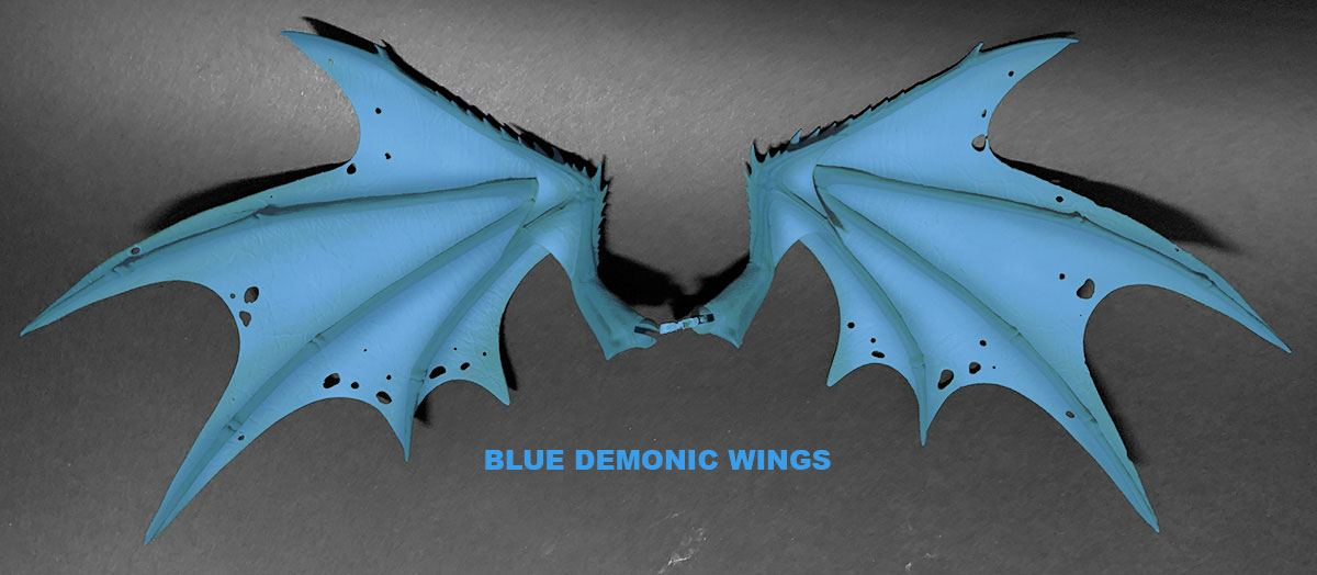 Mythic Legions: Arethyr Action Figure Accessory Blue Demonic Wings