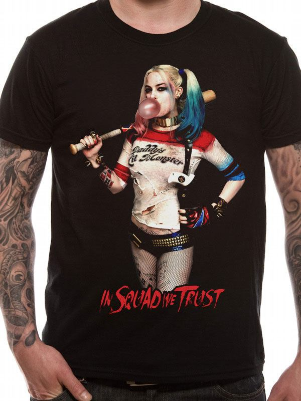 Suicide Squad T-Shirt Harley Quinn Squad Size XL