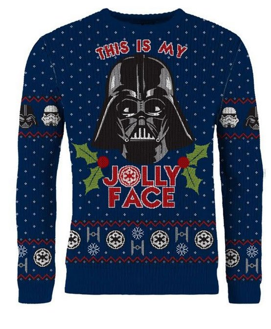 Star Wars Knitted Sweater This Is My Jolly Face Size L