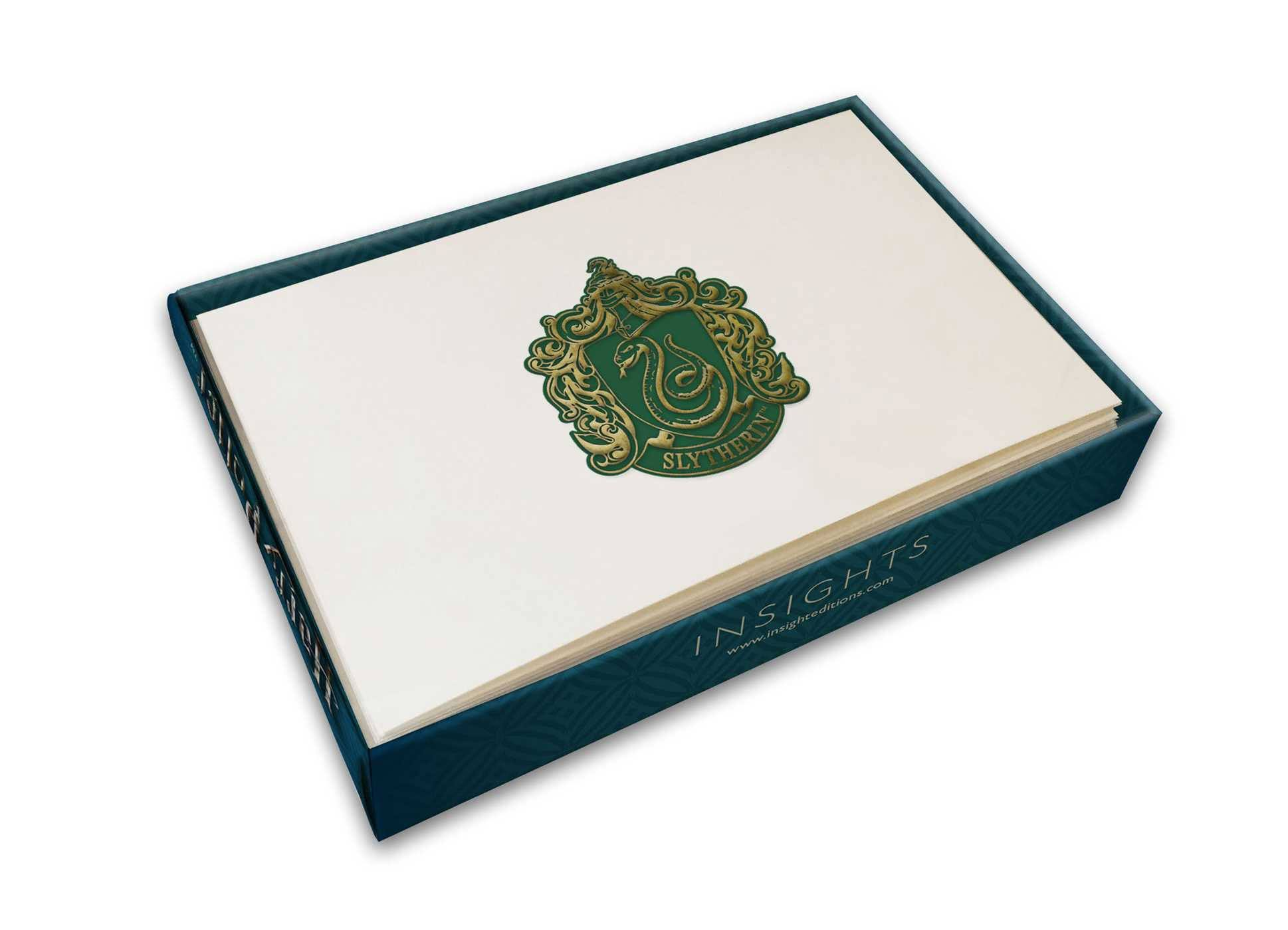 Harry Potter Foil Note Cards 10-Pack Slytherin 89 x 132 mm
