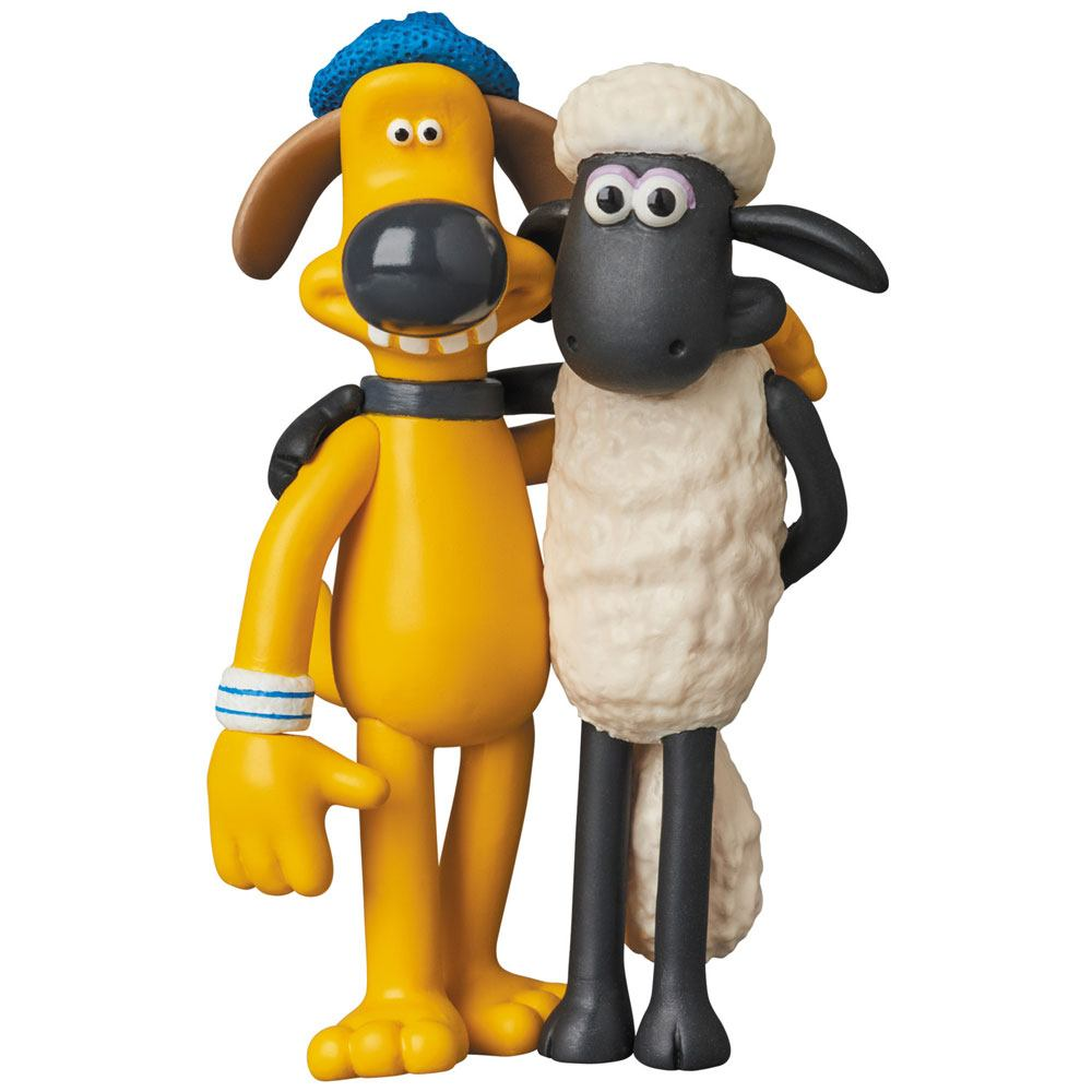 Shaun the Sheep UDF Aardman Animation #2 Mini Figure Shaun & Bitzer 8 cm