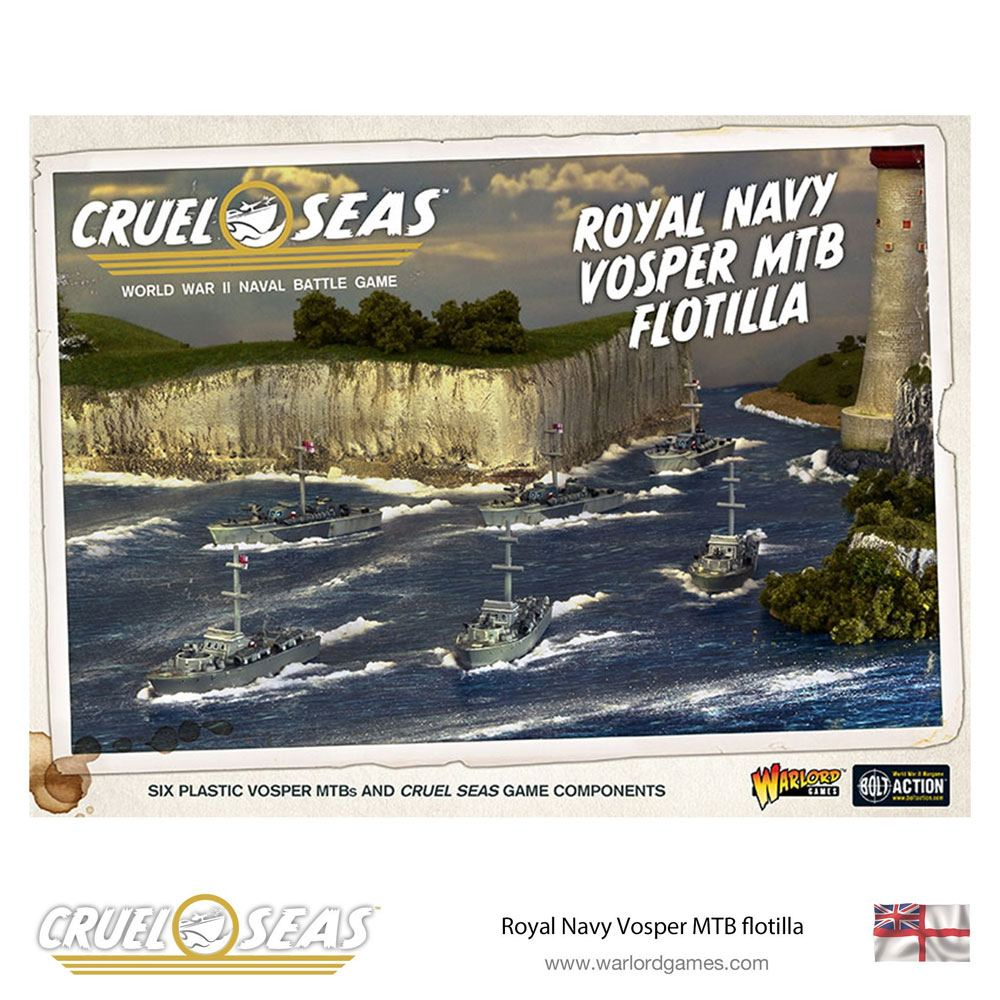 Cruel Seas Miniatures Game Expansion Set Royal Navy Vosper MTB Flotilla *English Version*