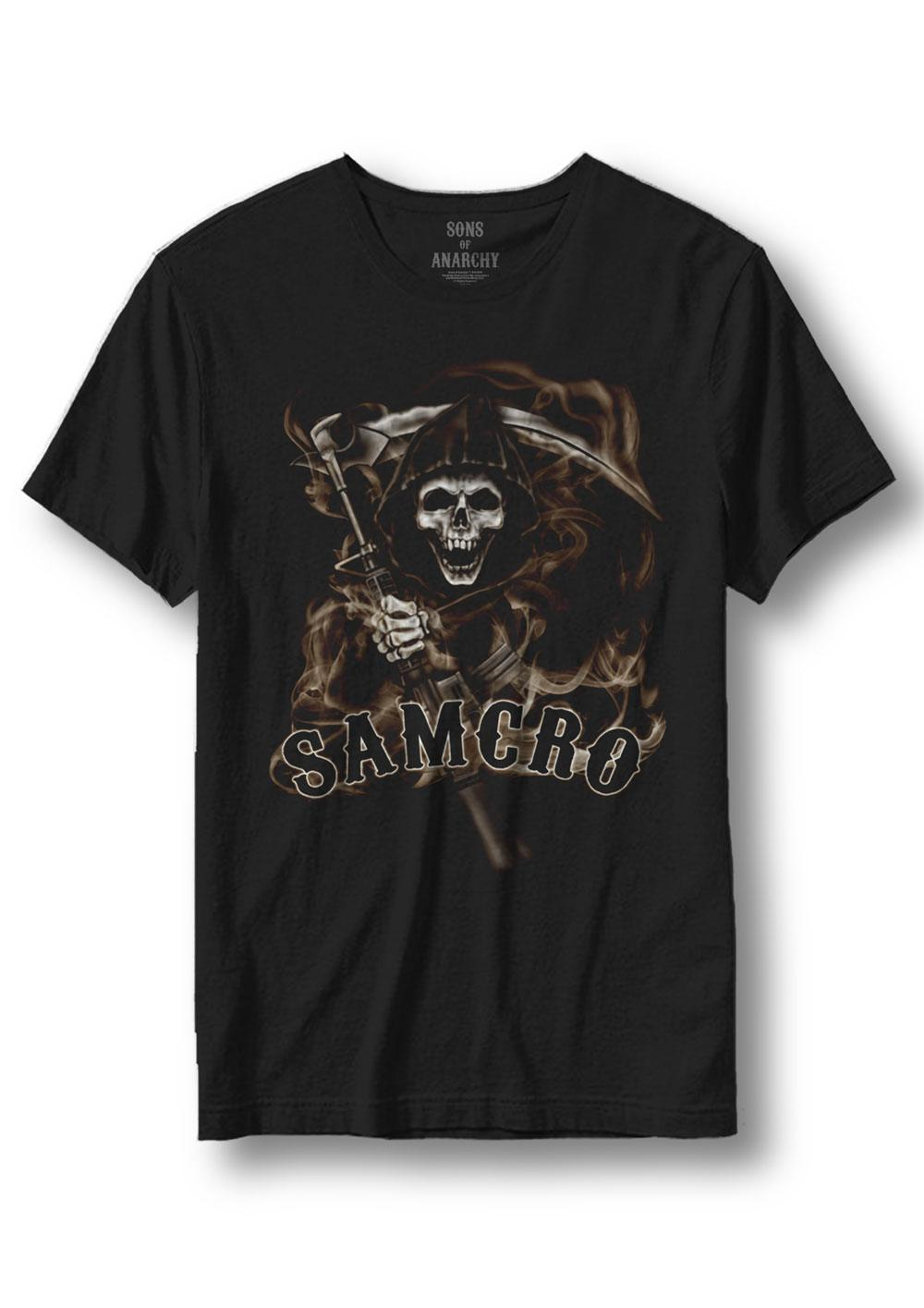 Sons of Anarchy T-Shirt Samcro Reaper Size L