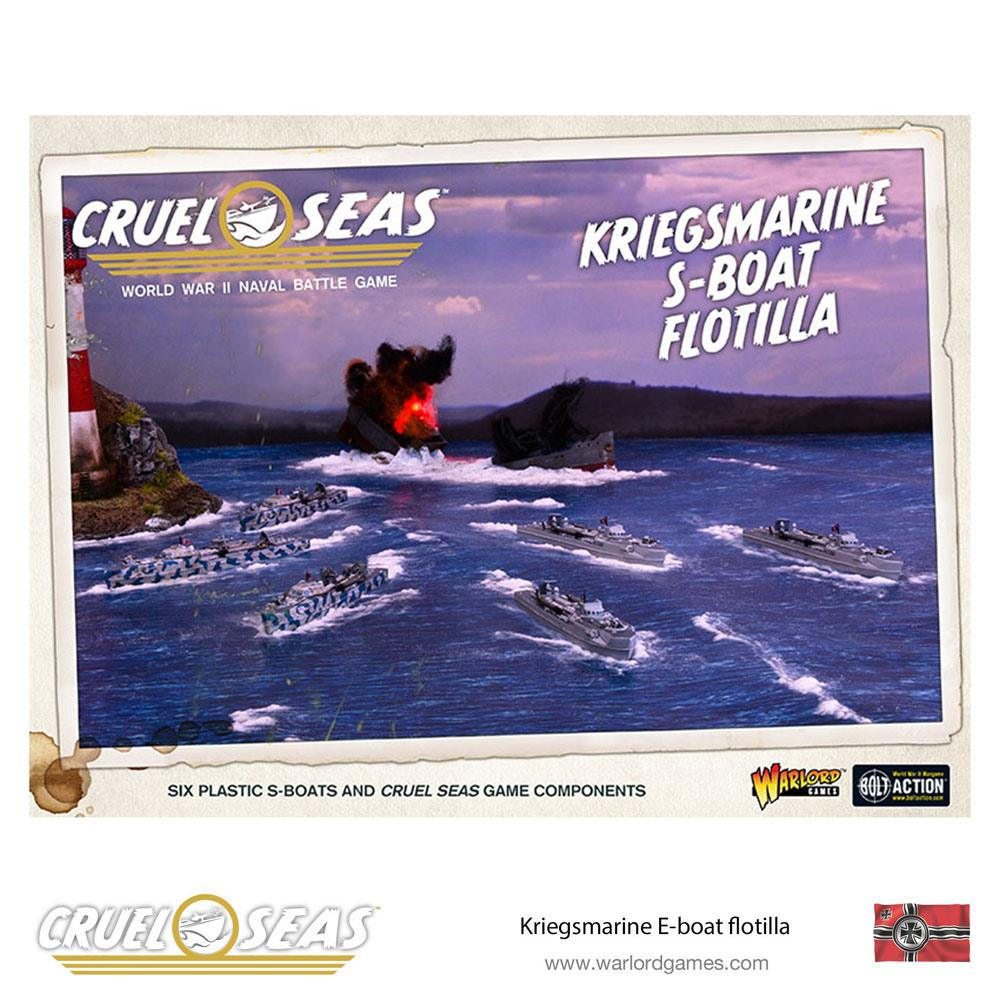 Cruel Seas Miniatures Game Expansion Set Kriegsmarine S-Boat Flotilla *English Version*