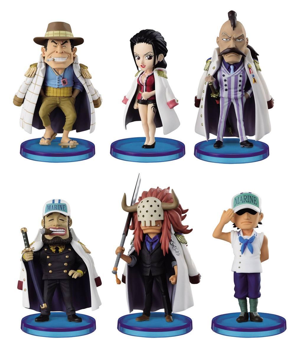 One Piece WCF ChiBi Figures 4 cm Assortment Navy Army II (25)