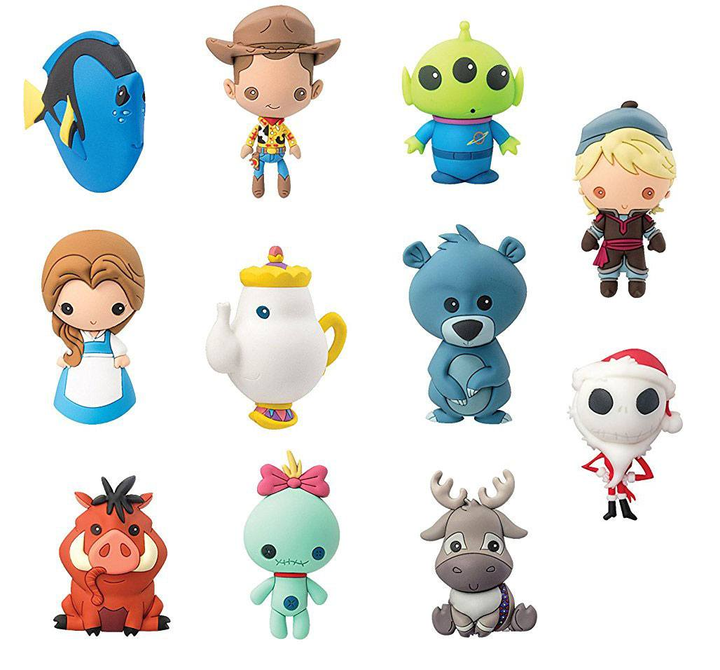 Disney 3D Rubber Keychain Series 5 Display (24)