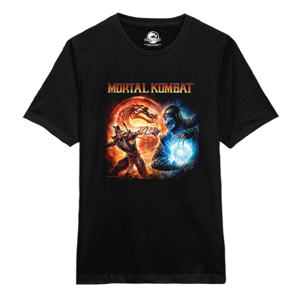 Mortal Kombat T-Shirt Fire and Ice Size S