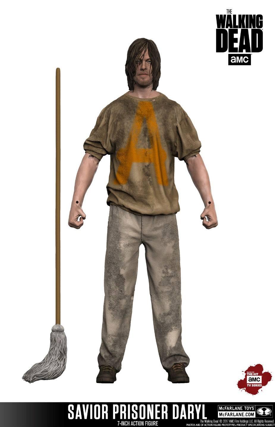The Walking Dead TV Version Action Figure Savior Prisoner Daryl 18 cm
