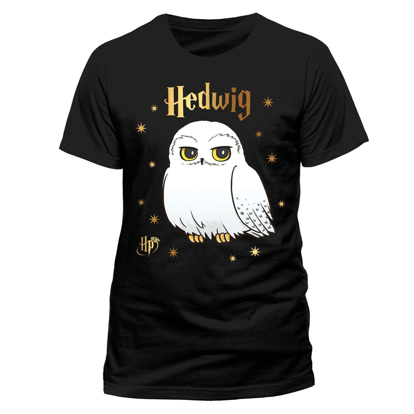 Harry Potter T-Shirt Hedwig Stars Size L