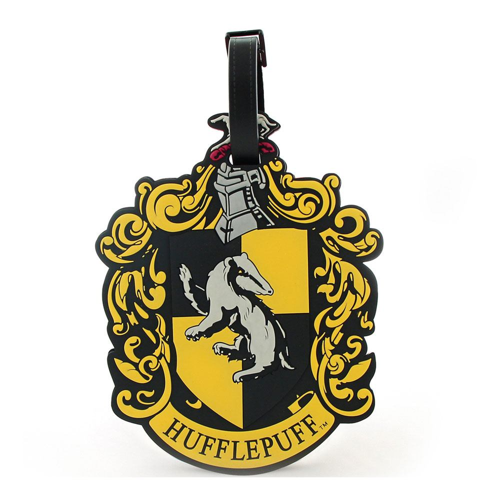 Harry Potter Rubber Luggage Tag Hufflepuff New Ver.