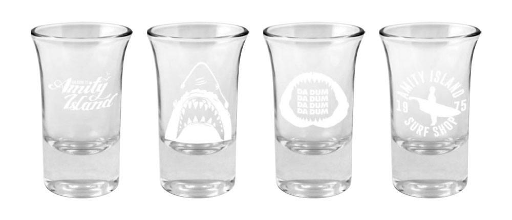 Jaws Shotglass 4-Pack Logo & Symbols