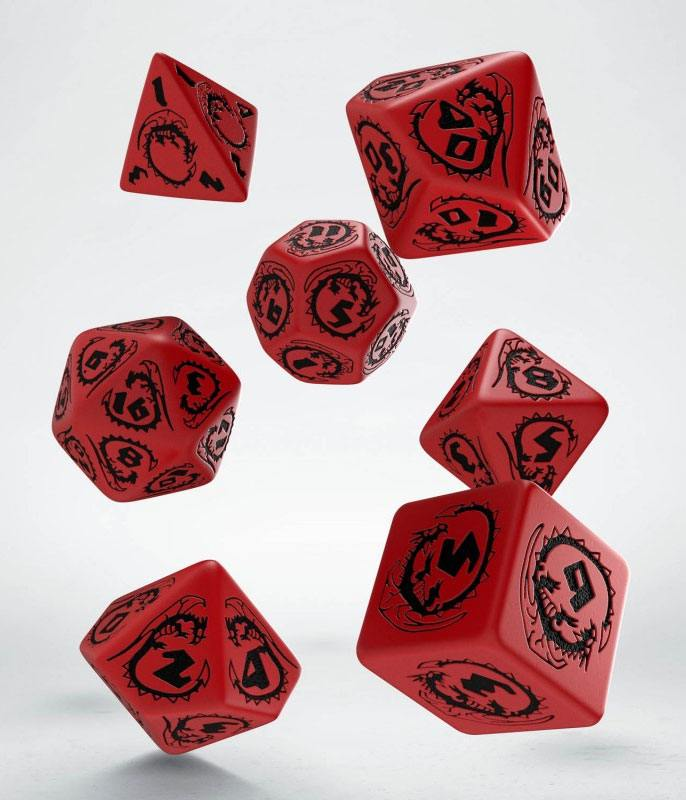 Dragons Dice Set red & black (7)
