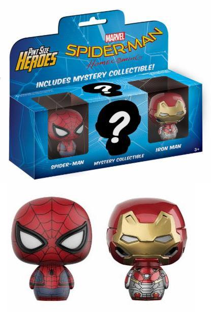 Spider-Man Homecoming Pint Size Heroes Mini Figures 3-Pack 6 cm