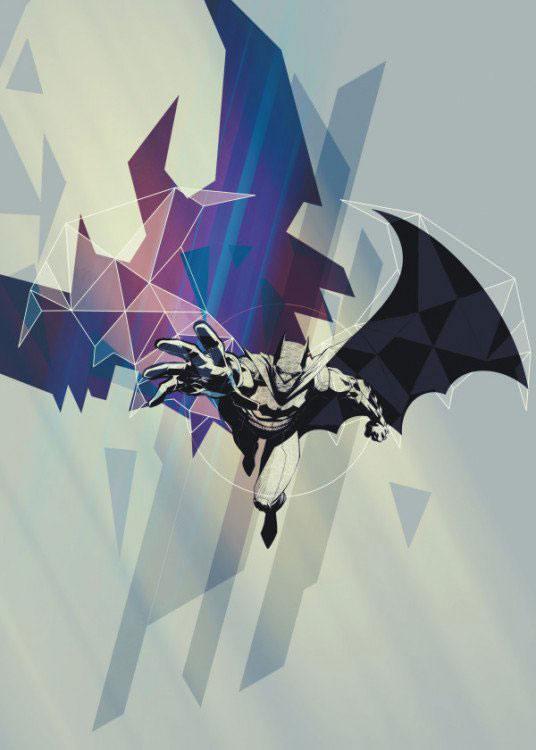 DC Comics Metal Poster Gotham Protectors Caped Crusaders 10 x 14 cm
