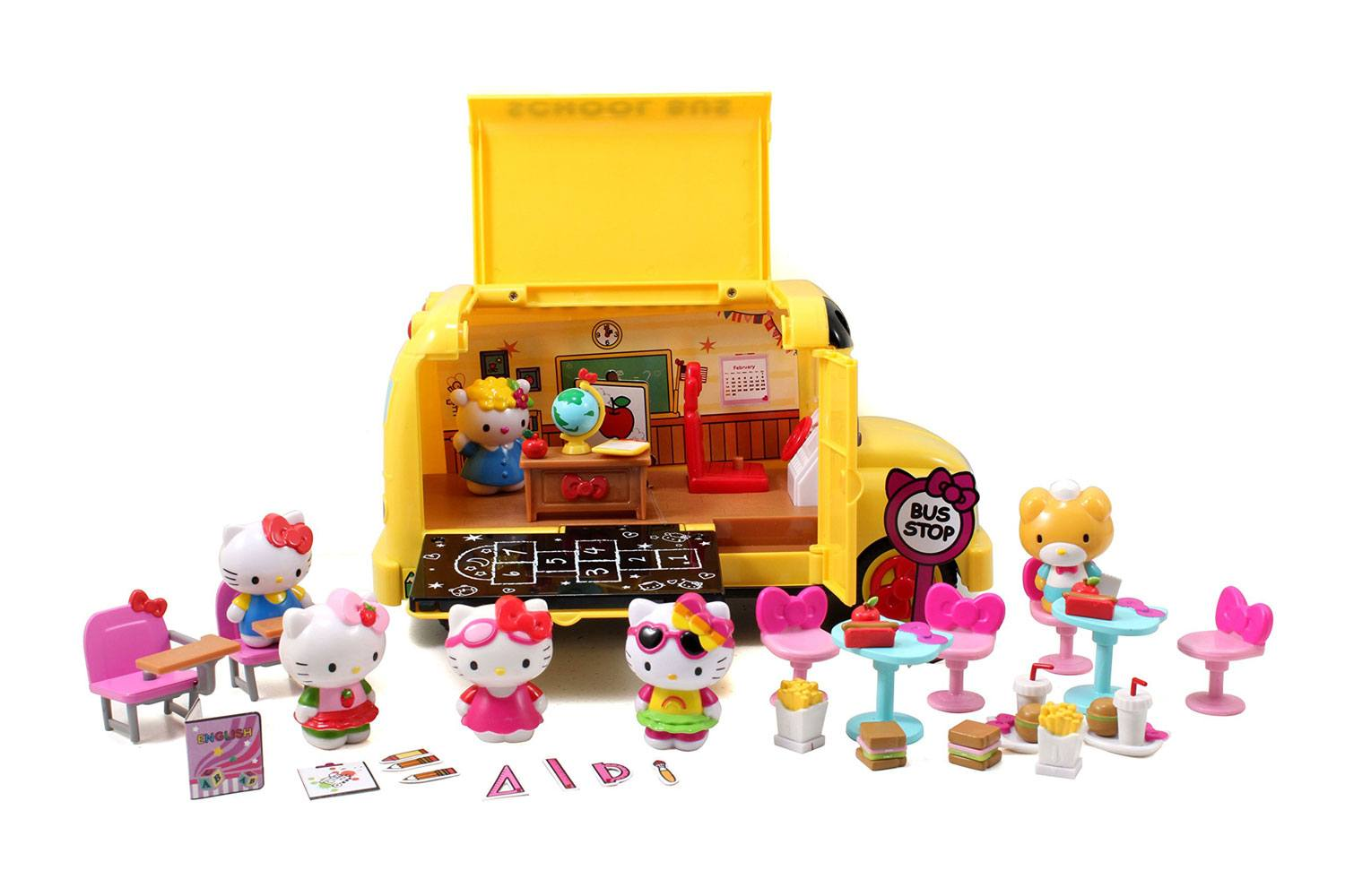 Hello Kitty Playset School Bus