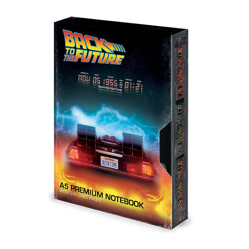 Back to the Future Premium Notebook A5 Great Scott VHS