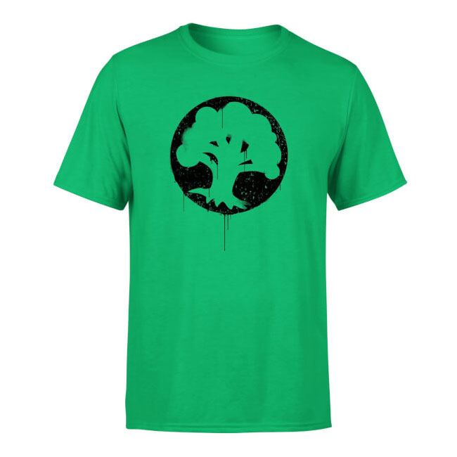 Magic the Gathering T-Shirt Green Mana Splatter Size XL