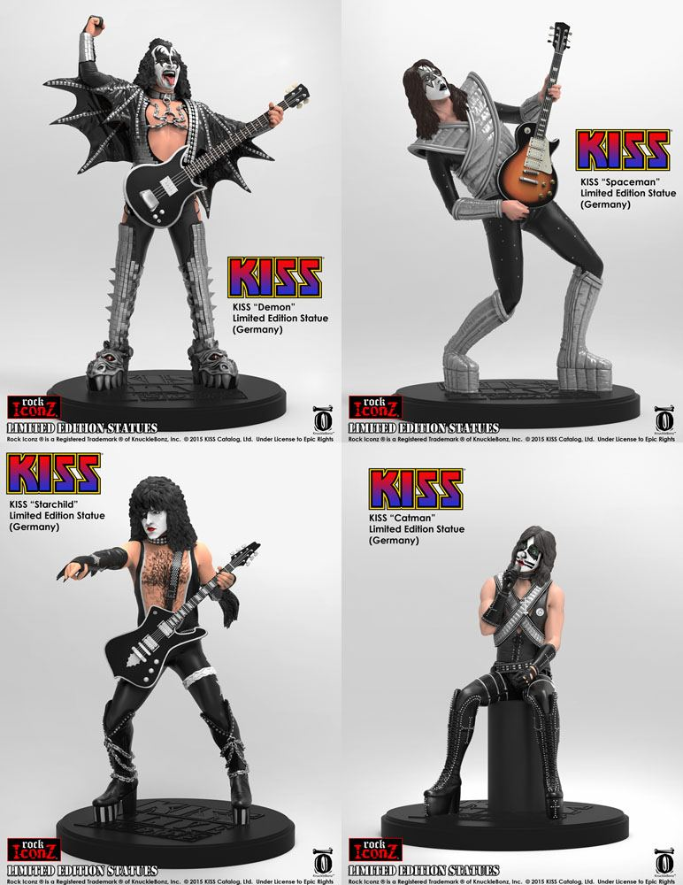 Kiss Rock Iconz Statues 23 cm heo Exclusive Set (4)
