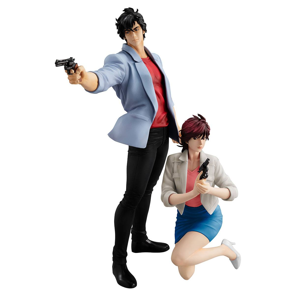 City Hunter Private Eyes G.E.M. Series PVC Statues Saeba Ryo & Makimura Kaori 17 - 25 cm