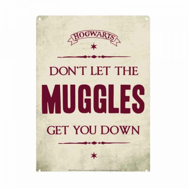 Harry Potter Tin Sign Muggles 21 x 15 cm