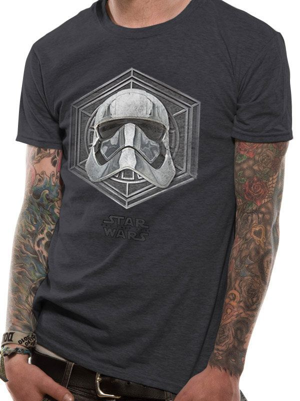 Star Wars Episode VIII T-Shirt Captain Phasma Badge Size XL
