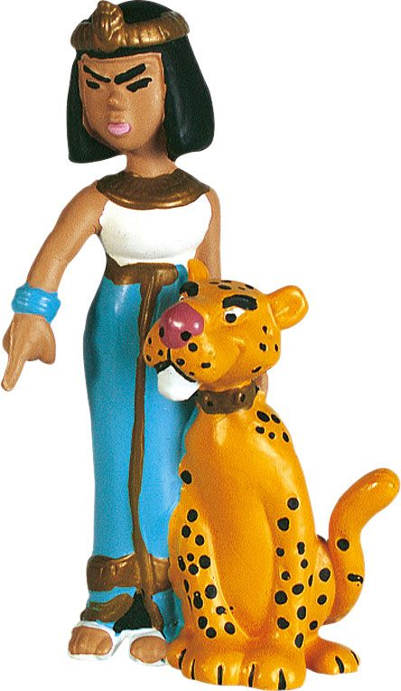 Asterix Figure Cleopatra and her panther 6 cm