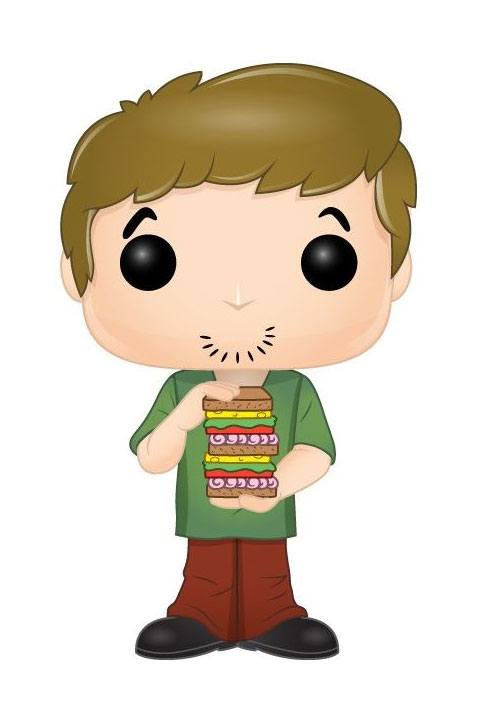 Scooby Doo POP! Animation Vinyl Figure Shaggy w/ Sandwich 9 cm